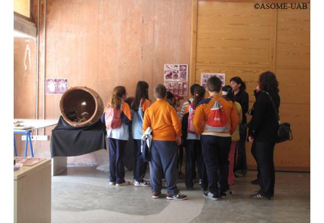 "Group of children visiting ""The living Museum""."