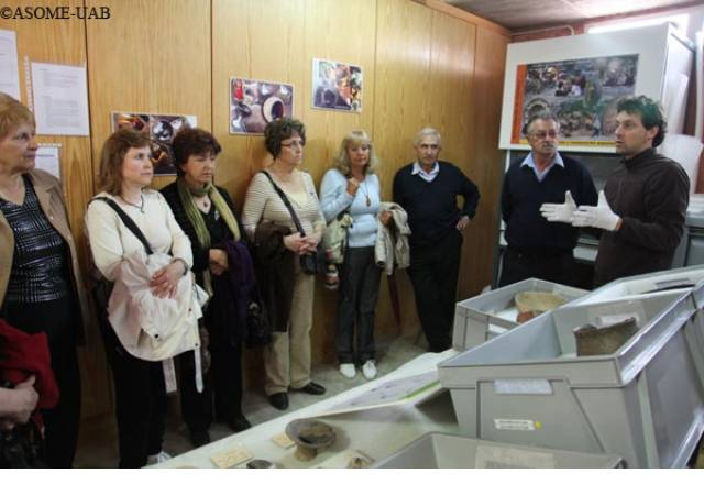 "Group visiting ""The living Museum""."